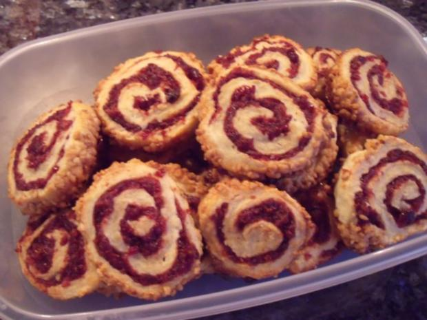 Weihnachtsplätzchen: Cranberry-Schnecken - Rezept