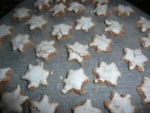 Weihnachtsgebäck : Zimtsterne (neu) ca 60 Stück - Rezept