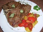 T-Bone Steak mit Tomatenragout - Rezept