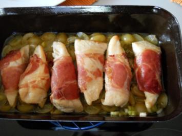 Hähnchenbrustfilet mit Weintrauben - Rezept