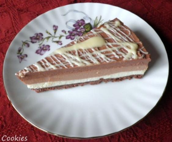 "Schokoladen - Käsesahne - Torte ""Tricolor"" ... - Rezept - Bild Nr. 21"