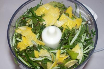 Mediterrane Kräutermischung tiefgefroren, zwei Varianten - Rezept