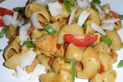 Austernpilze ♫ mit Hähnchenfilet & Pasta ♫ - Rezept