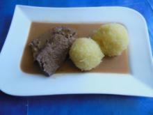 Kochen: Hirschbraten mit Grünen Klößen - Rezept