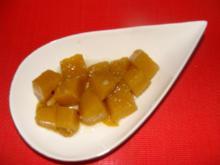 Gemüse: Süß-sauer eingelegter Hokkaidokürbis - Rezept