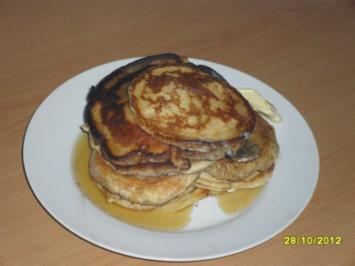 Pancakes mit Ahornsirup - Rezept