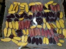 Bunte Blechkartoffeln - Rezept