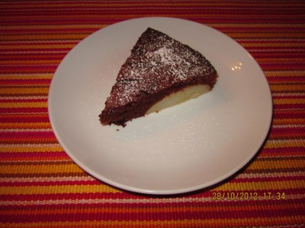 Schoko-Birnen-Kuchen - Rezept - Bild Nr. 3