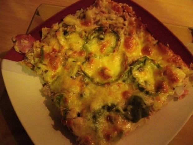 Blechpizza ..........mit Pizzateig  ohne Hefe - Rezept - Bild Nr. 8