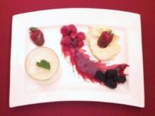 Bayerische Creme trifft Birnenschaum mit frischen Früchten - Rezept