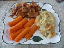 Schwein : Kassler - Zwiebelfleisch aus dem Wok - Rezept