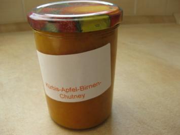 Kürbis-Apfel-Birnen-Chutney - Rezept