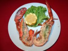 Gegrillter Lobster auf Salatstreifen mit Aiolicreme - Rezept