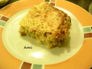 Hühnerfilet gebettet in Gemüse unter Lasagneblättern - Rezept