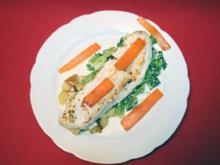 Zanderfilet an Butterkartoffeln und Gemüsevariationen - Rezept