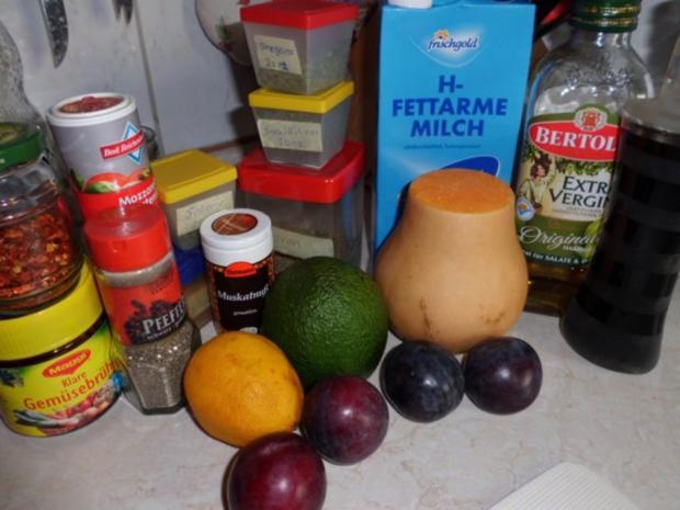 Suppe: Kürbis-Pfaumen-Suppe mit Avocado-Topping - Rezept - Bild Nr. 2