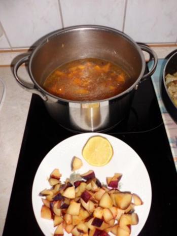 Suppe: Kürbis-Pfaumen-Suppe mit Avocado-Topping - Rezept - Bild Nr. 4