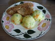 Fisch : Tilapia im Sesam paniert an Kartoffel - Gemüsebrei - Rezept