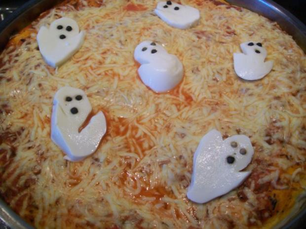Geister Pizza - Rezept