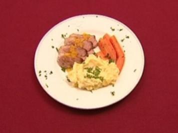 Entenbrust an Orangensauce mit Kartoffelpüree und Morchelsauce (Eugen Bauder) - Rezept