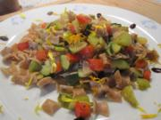 Gemüse - Vollkornnudeln  -  als ideale Resteverwertung! - Rezept