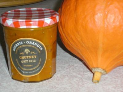 Kürbis-Orangen-Chutney - Rezept