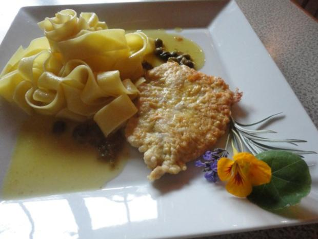 Zitronen Schnitzel an Kapern Sauce - Rezept - Bild Nr. 2