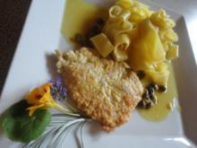 Zitronen Schnitzel an Kapern Sauce - Rezept