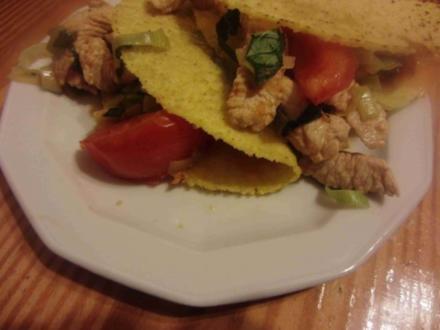 knusprige Tacos mit Putenfleisch - Rezept
