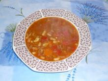 Bohnensuppe mit Hack und Chorizo nach Maikes Art - Rezept