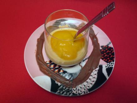 Original Bayrisch-Creme auf Mango-Kardamomspiegel - Rezept