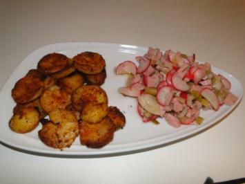 Wurstsalat mit Bratkartoffel, wir brauchten eine Grundlage, (ausnahmsweise mal mit Bild) - Rezept