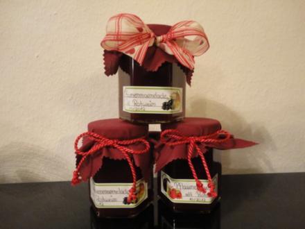 Pflaumenmarmelade mit Rotwein - Rezept