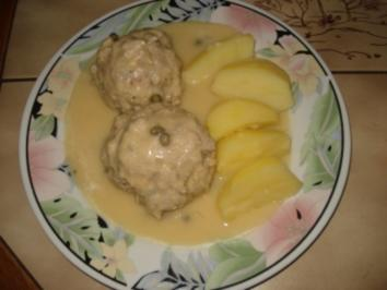 Rezept: Kochklopse in Senf - Kapernsoße