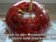 Karamellisierte Äpfel mit Amarettini-Mandelkruste - Rezept