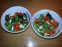 Salat mit Ziegenkäse - Rezept