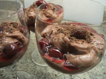 Dessert: Schoko-Kirsch-Becher - Rezept