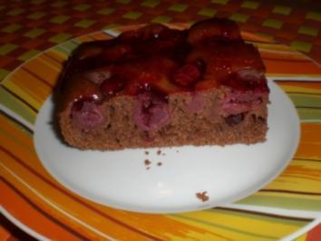 Schneller Blechkuchen Schoko-Kirsch - Rezept