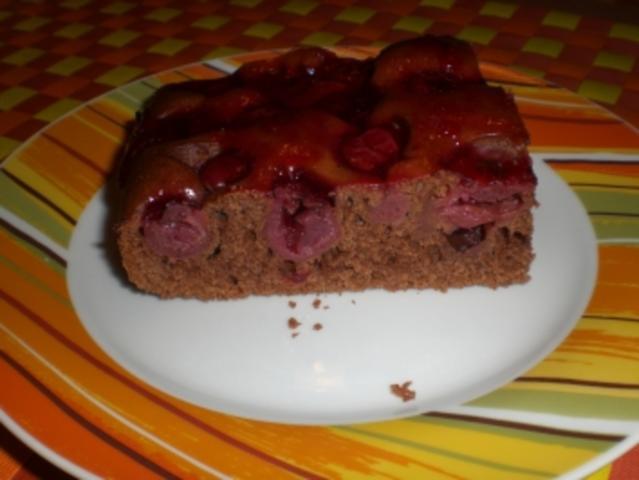 Schneller Blechkuchen Schoko Kirsch Rezept Kochbar De