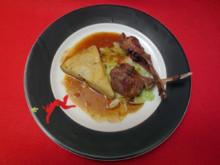 Lammcarrée mit Kartoffeltarte - Rezept
