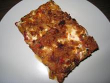 Mett-Blech oder Hack-Pizza - Rezept