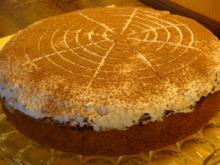 Hohenstaufener Sauerkirschkuchen mit Sahne,Brösel und Kirschwasser - Rezept