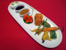 Gemüse-Tempura mit dreierlei Dips - Rezept