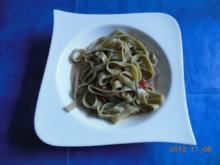 Vegtarisch: Tagliatelle in Blüten-Sahnesoße - Rezept