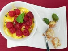 Passionsfruchtcreme an frittierten Früchten - Rezept