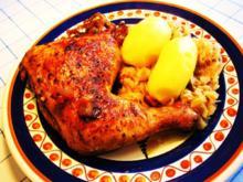 Hühnerkeulen - schön scharf - Rezept