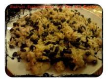 Fisch: Seelachspfanne mit Reis und Bohnen - Rezept