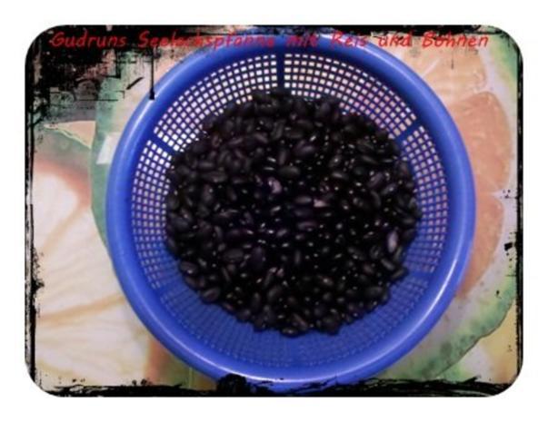 Fisch: Seelachspfanne mit Reis und Bohnen - Rezept - Bild Nr. 2