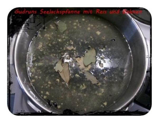 Fisch: Seelachspfanne mit Reis und Bohnen - Rezept - Bild Nr. 3
