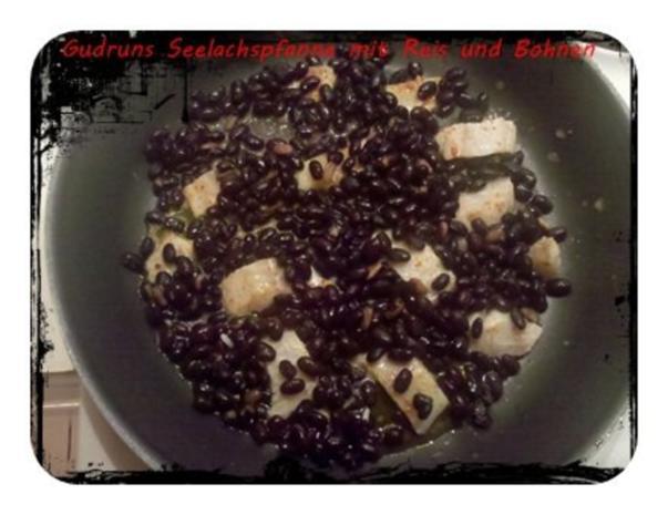 Fisch: Seelachspfanne mit Reis und Bohnen - Rezept - Bild Nr. 8